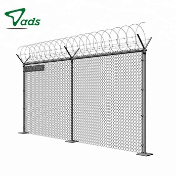 PVC coated price double swing gate used chain link fence
