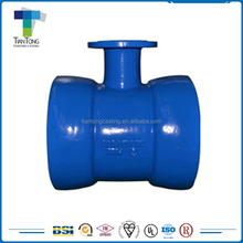 Pipe Fitting Ductile Iron Double Socket Tee with Flanged Branch