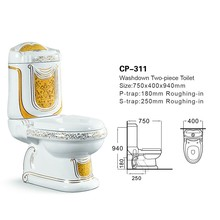 cp-311 High quality toilet, bathroom gold plated toilets