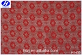 Hongtai high quality guipure red flower lace fabric / elastic swiss lace fabric wholesale in market dubai