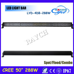 Offroad truck jeep auto 288w 4x4 Straight C.ree 4d led light bar