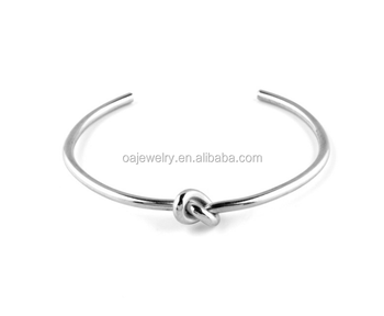 simple letter stainless steel bracelet and titanium open bangle
