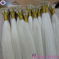 2016 New Arrival Last 12 Months Full Cuticle Double Drawn white i-tip hair extensions