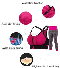 Women Sport Yoga Set For Running Gym Sportwear Suit Girl Ladies Elastic Waist Yoga Suit Fitness 5010+5081