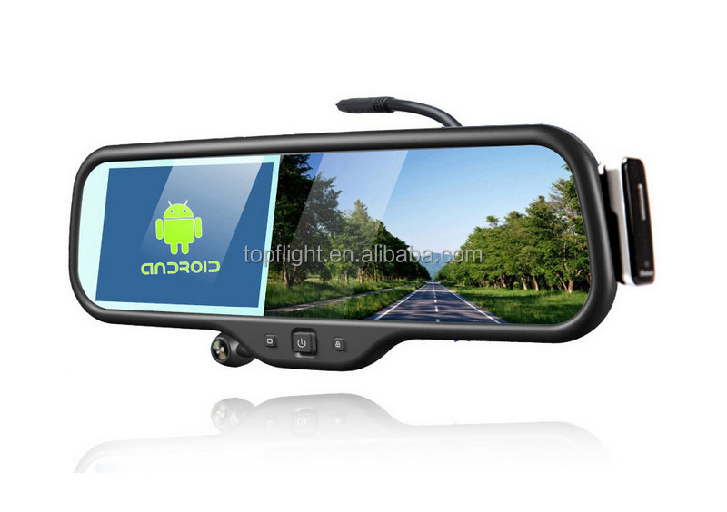 Android 5 Inch rearview Mirror+GPS Navigation+Full HD1280x720 DVR+Bluetooth+8GB+Av-in