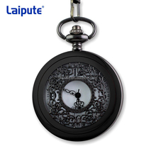 Alloy Detective Cartoon Series Pocket Watch Open Case Pocket Watches