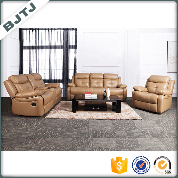 BJTJ extra large sectional sofa leather recliner design 70596