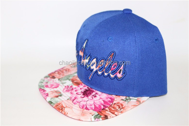 2016 popular hip-hop snapback cap hat with applique for sale