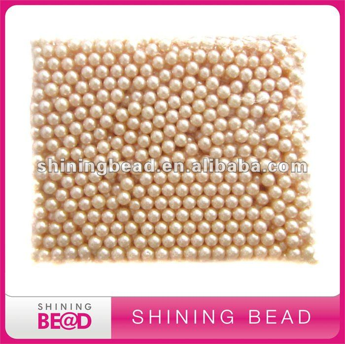 Charming plastic round pearl beads without hole
