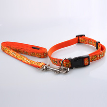 Superior nylon materials strong metal buckle custom name brand dog collars and leashes for pets