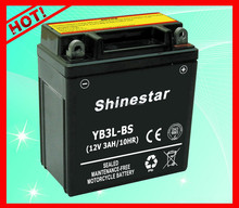 2016 World Best Selling 12V 3Ah 12v rechargeable motorcycle battery YB3L-BS With Export price