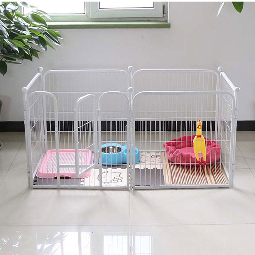 Portable outdoor folding expandable run pet fence large enclosure metal dog fence