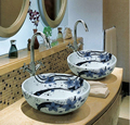 2017 Restaurant and Hotel Room Article Hand Washing Basin Used Chinese Ceramics in Bathroom