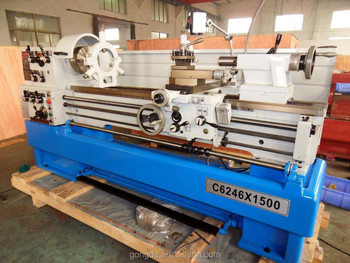 Precision universal Gap-bed lathe bench lathe machine C6246D*1500mm with CE approved