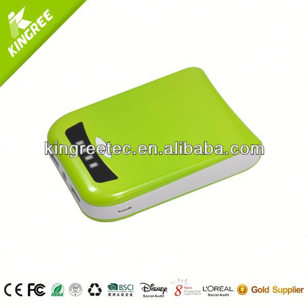 A Mini Solar external backup battery charger case for s4/Wallet Power Bank