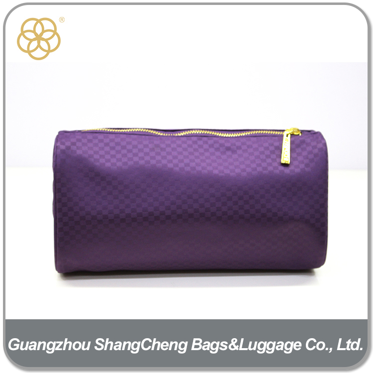 Wholesale Travel Canvas Quilted Portable Cosmetic Bag For Girls