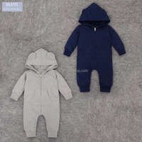Newborn Boys Girls Clothes 2017 winter children overalls wholesales baby rompers cotton Long Sleeve baby infant hooded romper