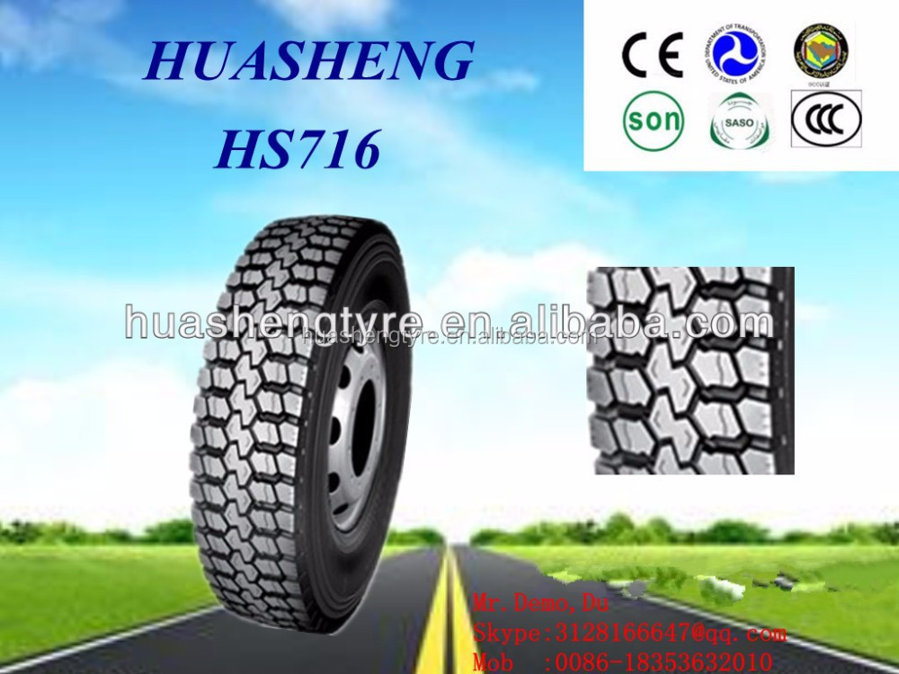 HUASHENG TAITONG KAPSEN brand china wholesale same quality as michelin 11.00R20 12R22.5 new brand name radial truck tyre/tire