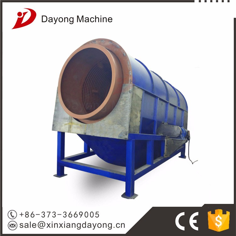 Low noise drum screen trommel screen for solid waste recycling