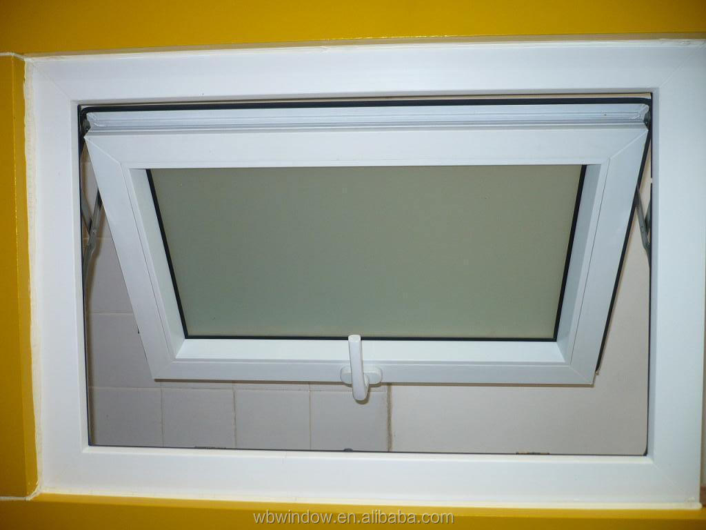 small size pvc awning window for the toilet pvc upvc