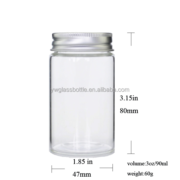 Bright Heat Resistant Glass Jars for Food Storage, Household Cylindrical Mason Jars Flower Tea Tank Container