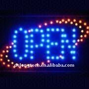 CE RoHS 12X24 inch acrylic indoor flashing super bright open running led sign