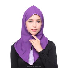 Fashionable new design chiffon material malaysia instant hijab with two face