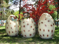 Animatronic dinosaur eggs