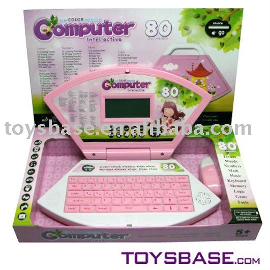 Color screen electrical toys learning computer- English