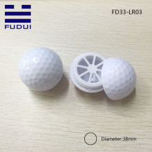 Popular! unique sports golf ball shape makeup lip balm tube/lip balm case with free sample