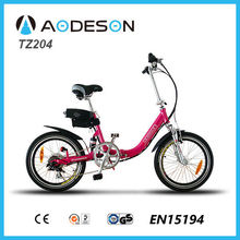 cheap folding electric bike/bicycle, mini ebike for kids TZ204 with lithium battery, easily carry, easily fold