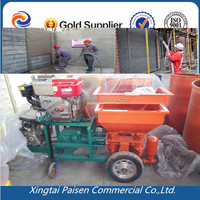 diesel motor automatic render machine to spray concrete/ cement /mortar for wall