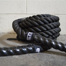 Crossfit gym workout strength core training battling / battle rope