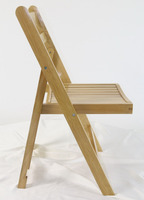 wholesale wedding natural solid wood folding chair