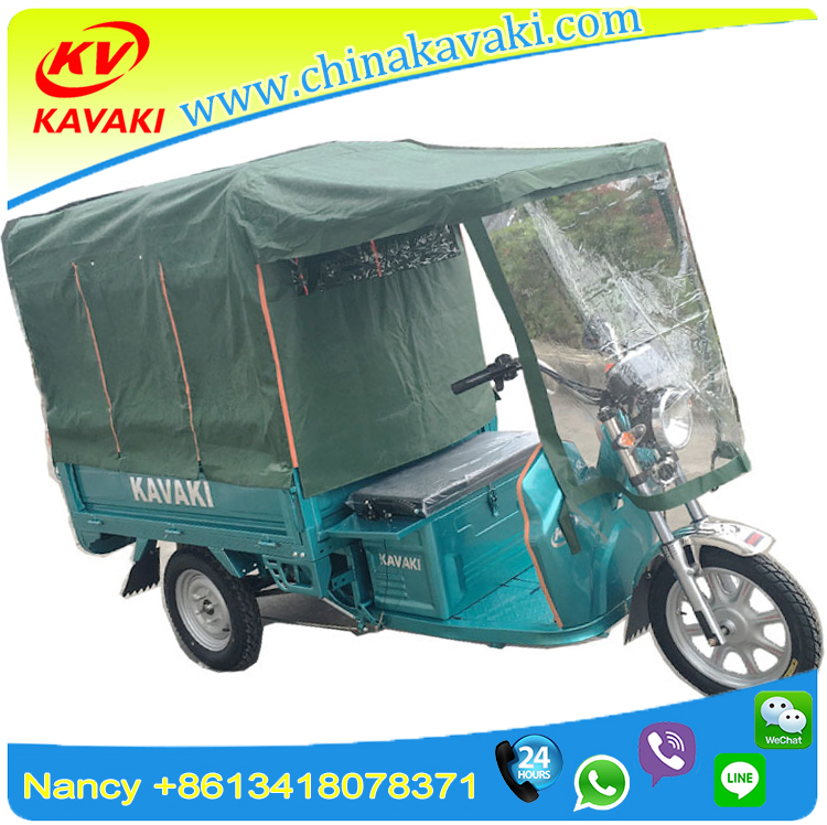 900W60V20AH with cabin electric tricycle/ mail tricycle/ courier tricycle