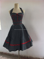 China wholesale walsonrockabilly VINTAGE 1950'S ROCKABILLY Polka Dot POLKADOT PIN UP FORMAL SWING PROM DRESS