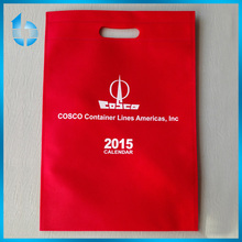 custom non-woven fabric packing bags with white printing for company propaganda