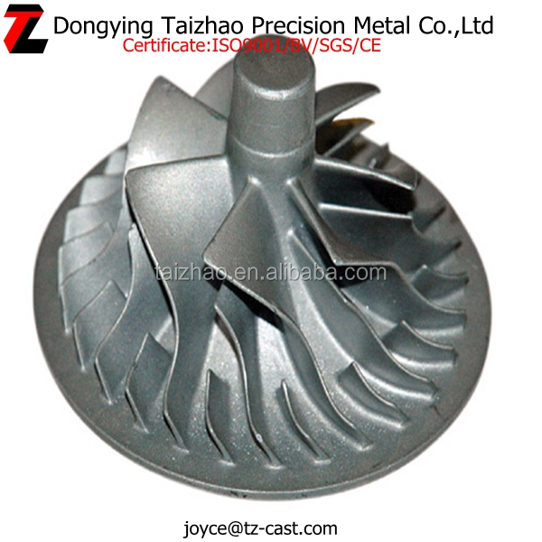 Stainless steel precision casting axial fan impeller