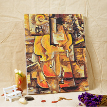 Artist Pablo Picasso art work craft canvas abstract oil painting on canvas diy by handpainted
