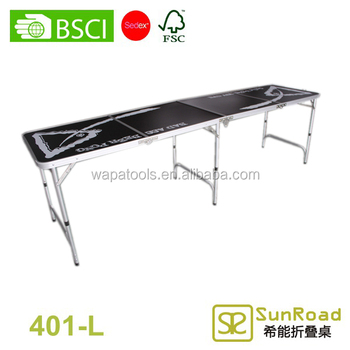 8ft beer pong table bar height folding tables