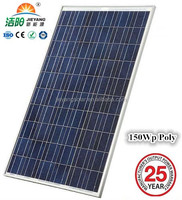 Solar pv module Supplier Poly Solar Panel 150 Watt A Grade Quality +3% Power Tolerence
