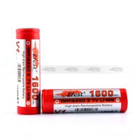 30A high drain Efest IMR 18650 battery Efest 18650 1600mah 3.7v rechargeable battery