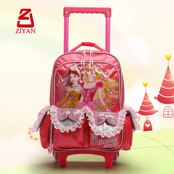 Girl Princess Cartoon Children Trolley Bag For Junior