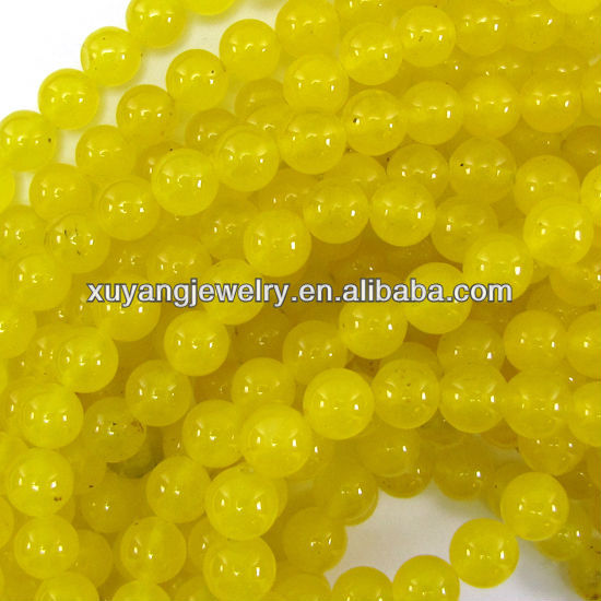 Yellow agate beads (AB1303)