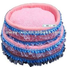 UW-NPB-024 Pink luxury double layer lace princess dog bed/pet beds