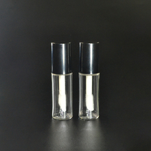 3ml 5ml clear round shape plastic liquid lipstick container custom makeup packaging lip gloss tubes