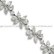 Solitaire Diamond Hot Selling Flower Design Gold Bracelets Tekewala Jewelry