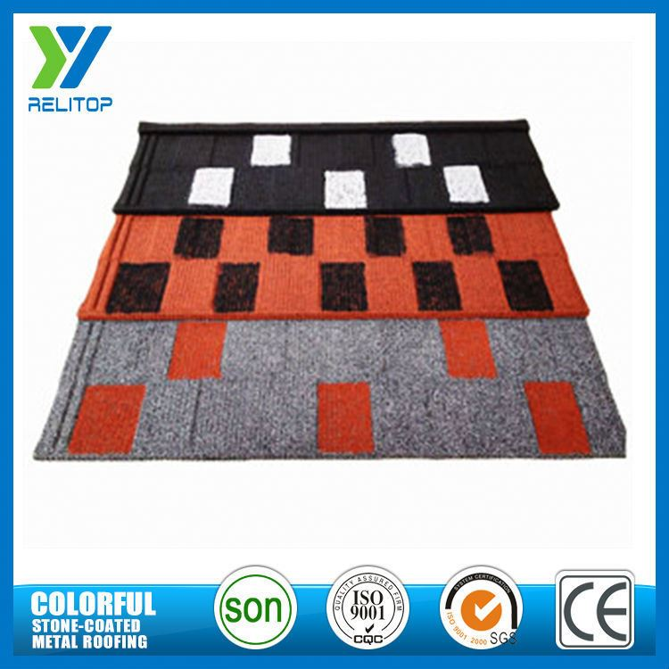 Al-Zinc Stone Chip Coated Type Of Roofing Material For Townhouse