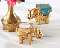 Newest Gold elephant tealight holder Indian wedding favors