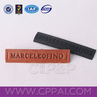 Long pieces real leather label leather tag for garment and bags
